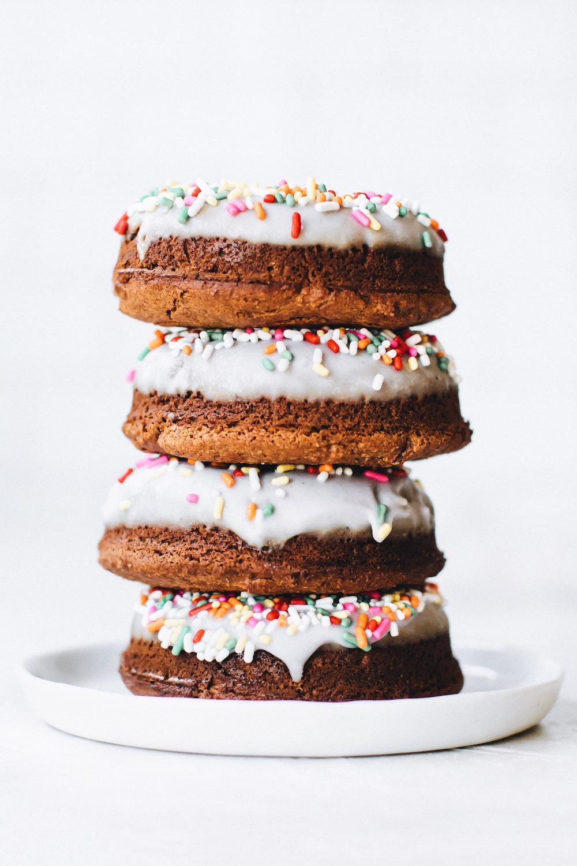 Glazed Coconut Flour Donuts (vegan + paleo)