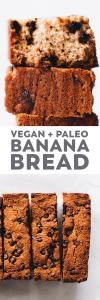 Paleo Vegan Chocolate Chip Banana Bread