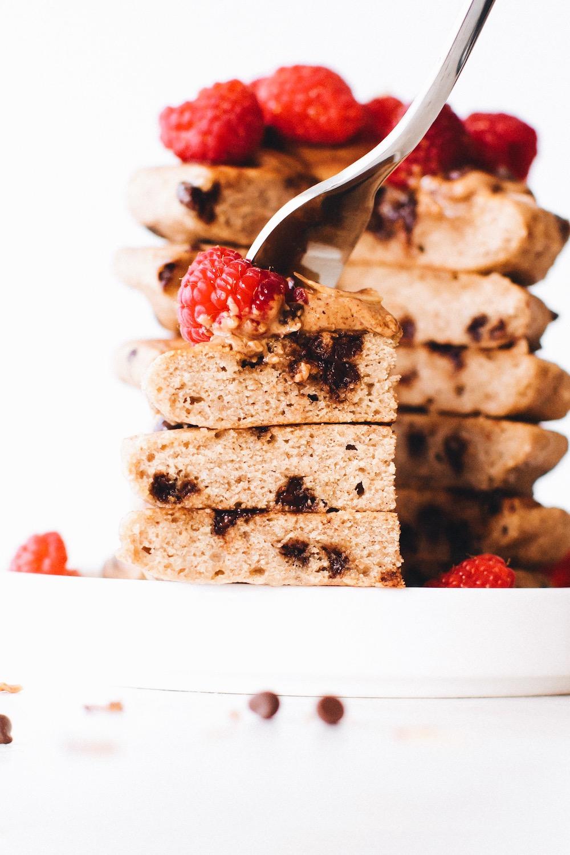 Chocolate Chip Vegan Buckwheat Pancakes