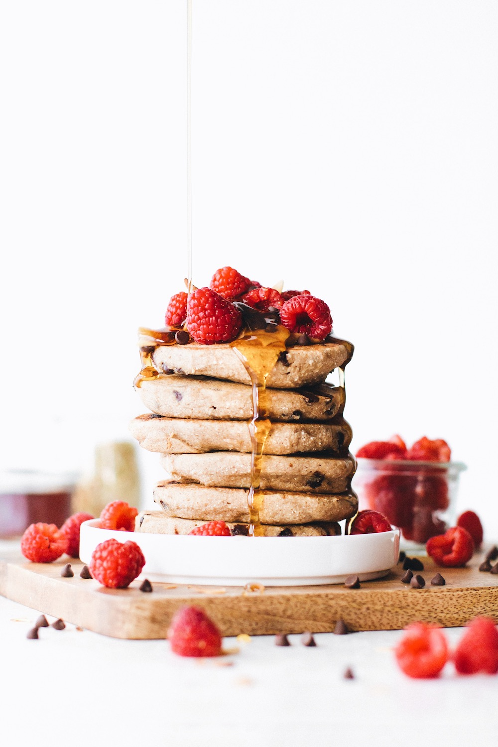 Chocolate Chip Vegan Buckwheat Pancakes Feasting On Fruit