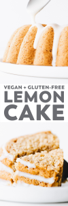 Lemon Yogurt Bundt Cake (Vegan + Gluten-Free)