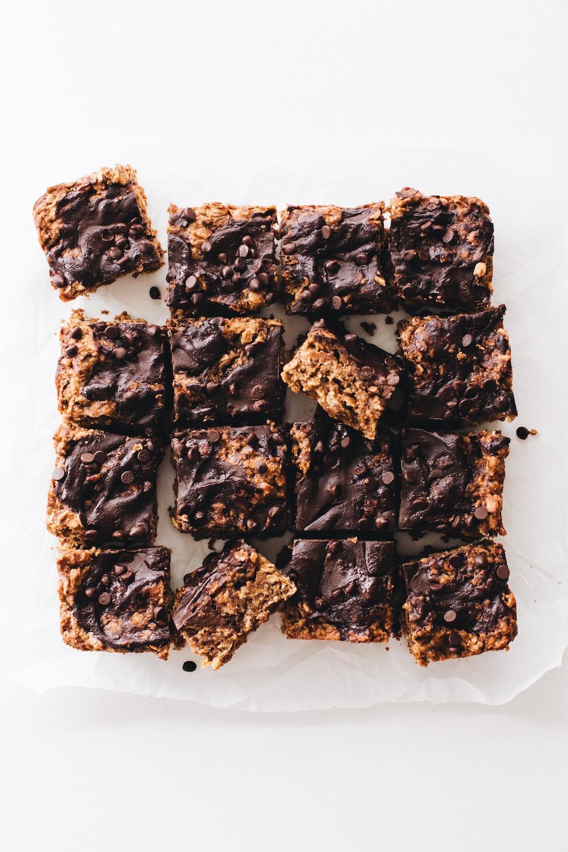 Chocolate Covered Oatmeal Bars