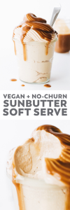 Sunbutter Soft Serve Ice Cream