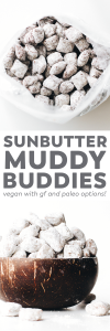 Sunbutter Muddy Buddies (vegan, gluten-free, paleo option!)