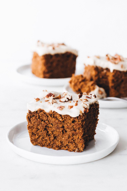 Vegan Pumpkin Cake (gluten-free + oil-free)