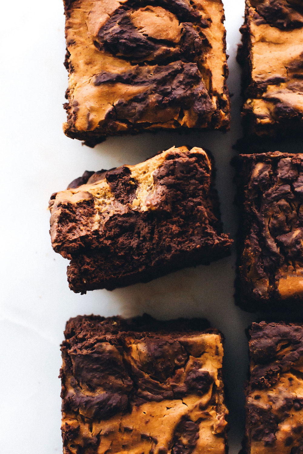 Vegan Pumpkin Swirl Brownies