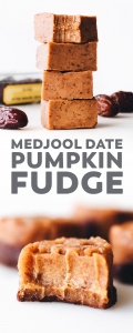 Medjool Date Pumpkin Fudge