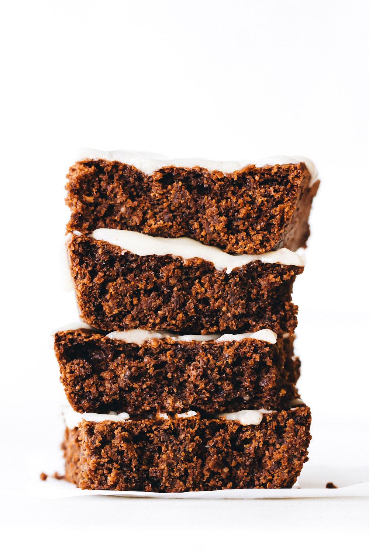 SunButter Gingerbread Cake Bars