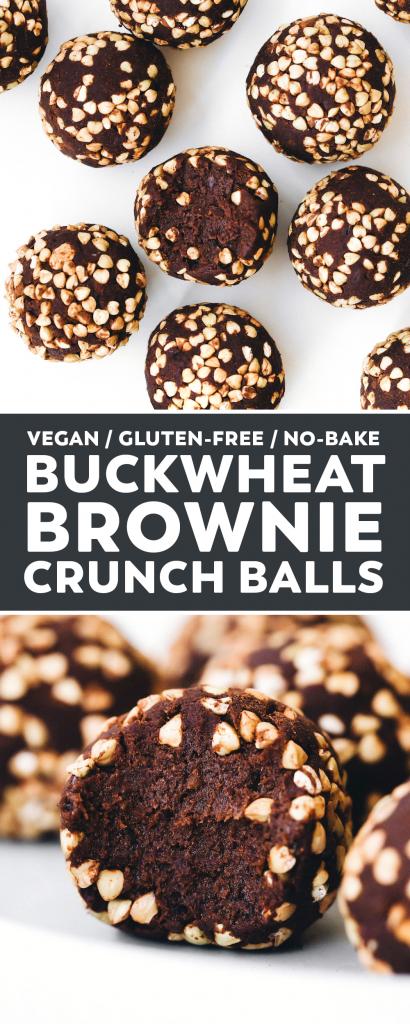 Buckwheat Brownie Crunch Balls
