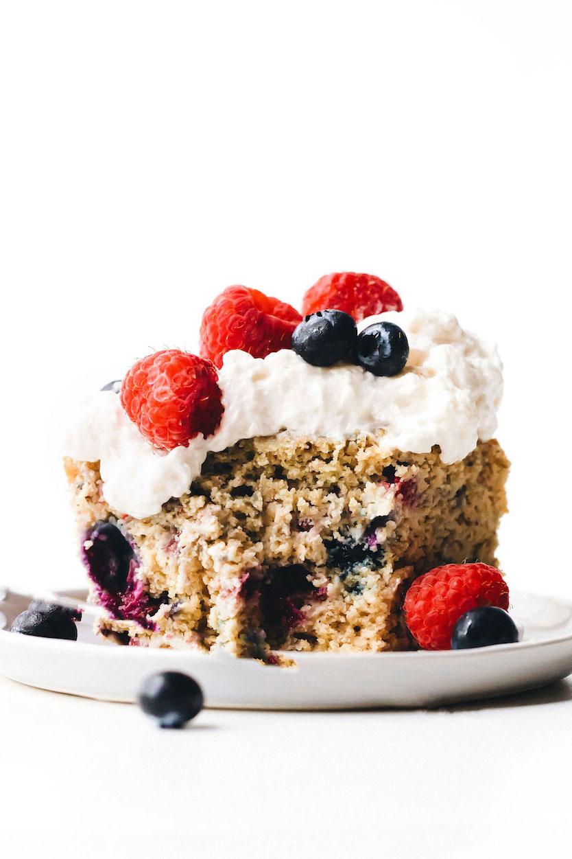 Vegan Gluten-Free Berry Yogurt Cake
