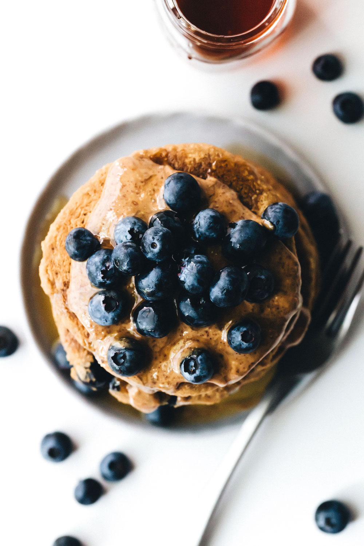 Fluffy Vegan Blueberry Pancakes