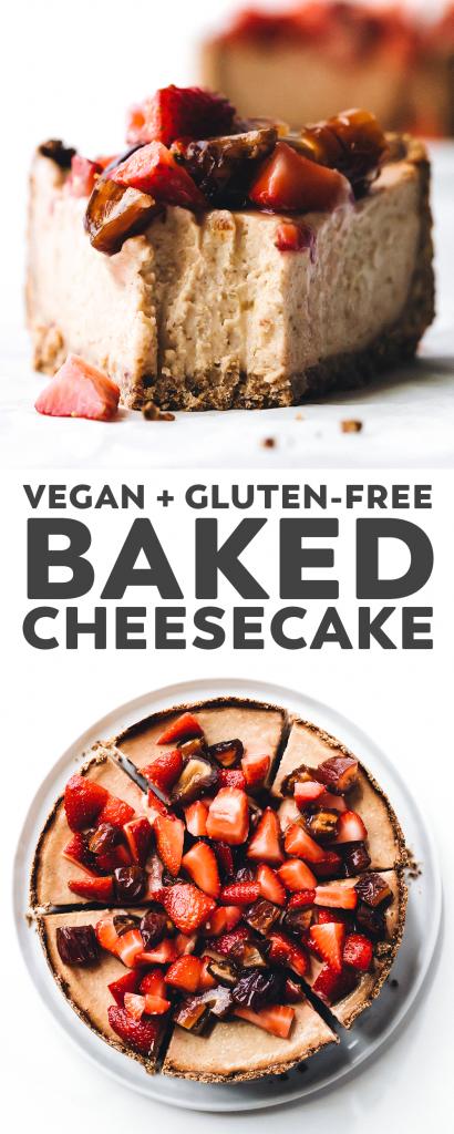 Medjool Date Baked Cheesecake (vegan + gluten-free)