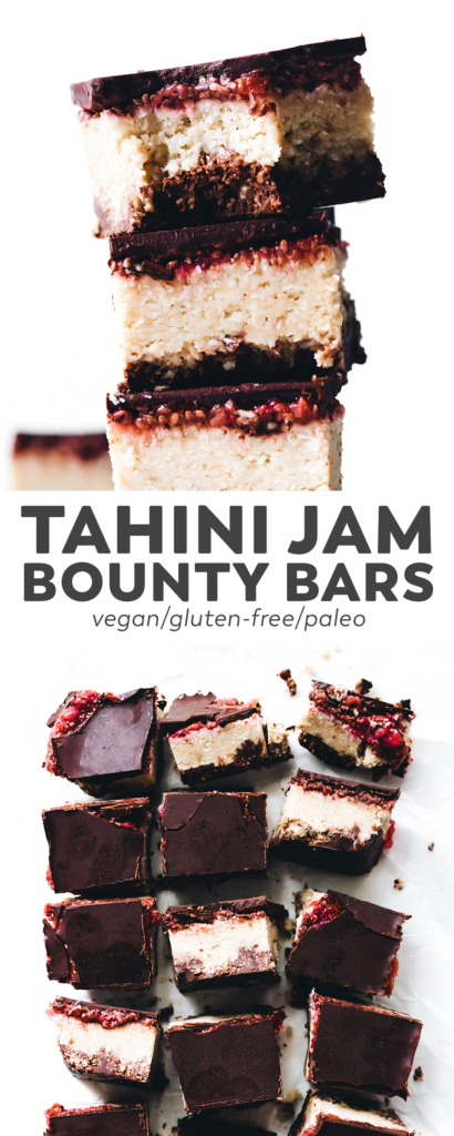 Tahini Jam Bounty Bars