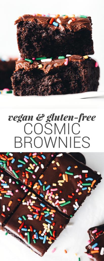 Vegan Gluten-Free Cosmic Brownies