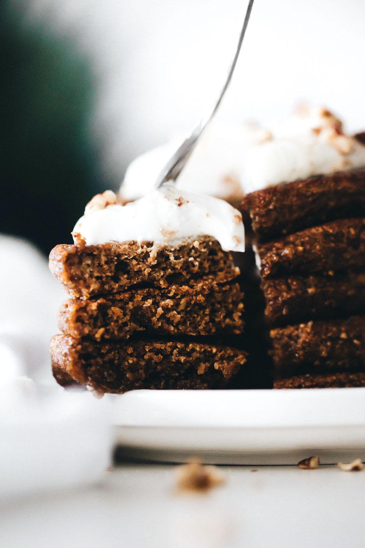 Gingerbread Pancakes (vegan + gluten-free)