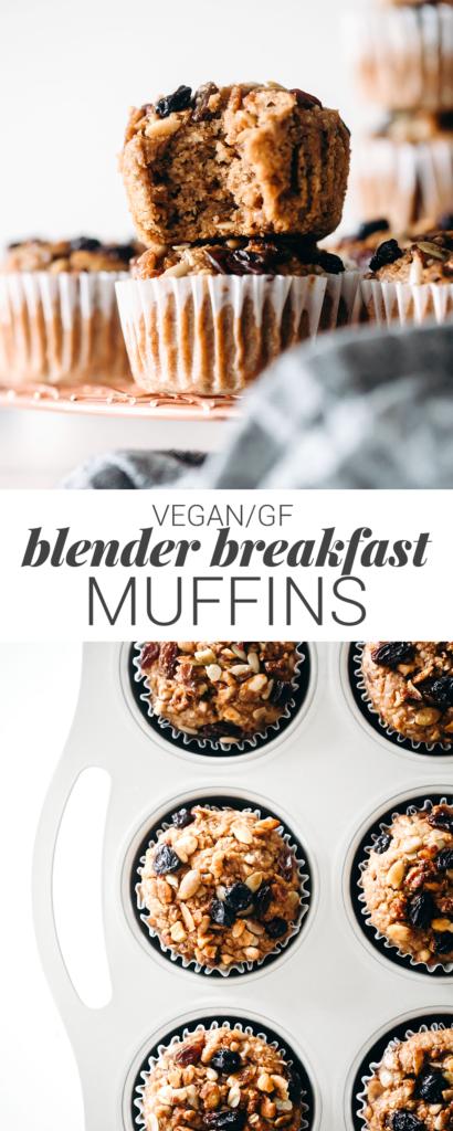 Blender Breakfast Muffins (vegan + gluten-free)