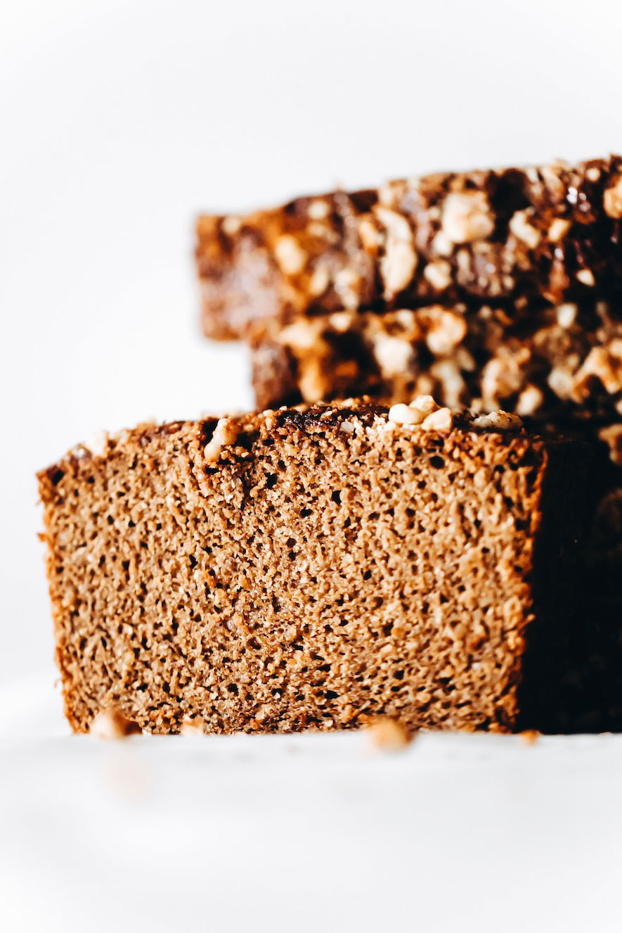 Cinnamon Buckwheat Banana Bread (vegan + gluten-free)