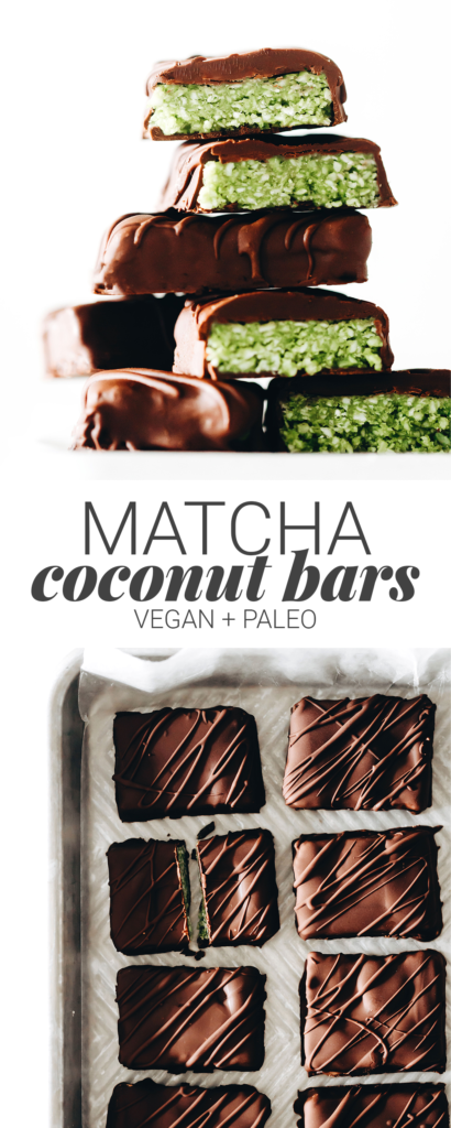 Matcha Coconut Bars (vegan + paleo)