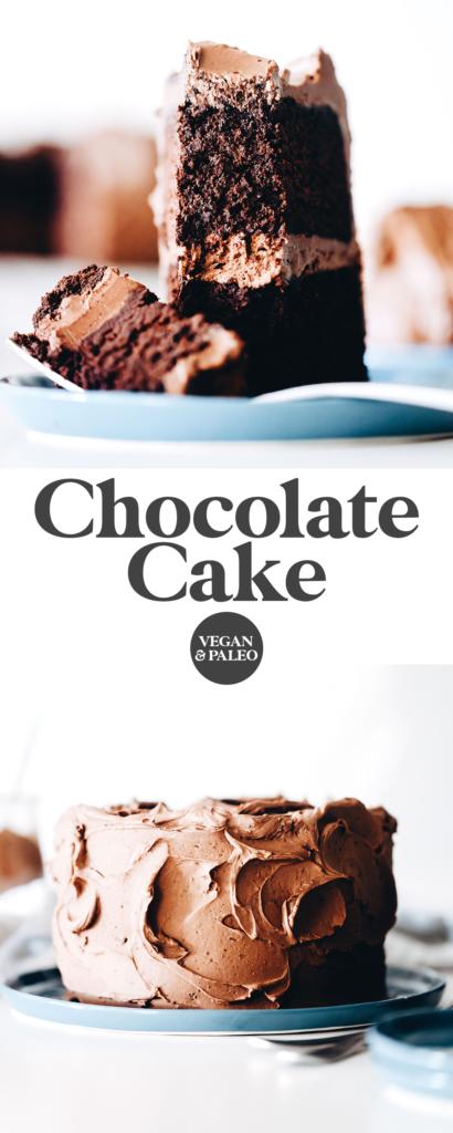 Vegan Paleo Chocolate Cake Pin