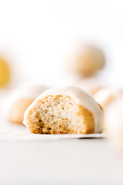 Puffy Glazed Lemon Cookies (vegan + grain-free)