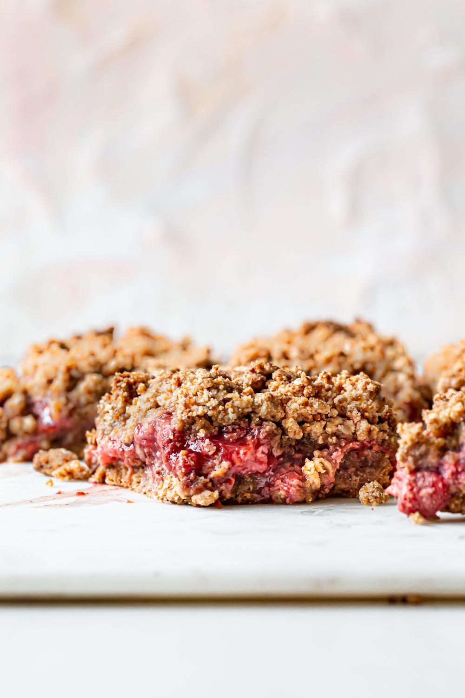 Berry Crumb Bars (vegan + paleo option)