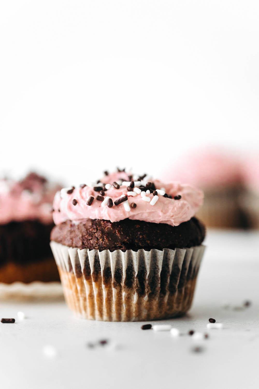 Neapolitan Cupcakes (vegan + gluten-free)