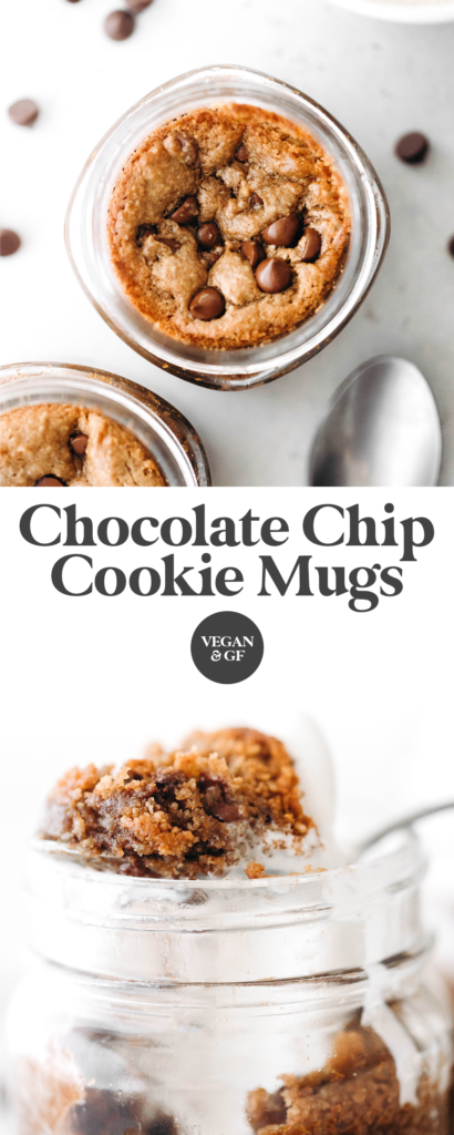 Chocolate Chip Mug Cookies (vegan + gluten-free)