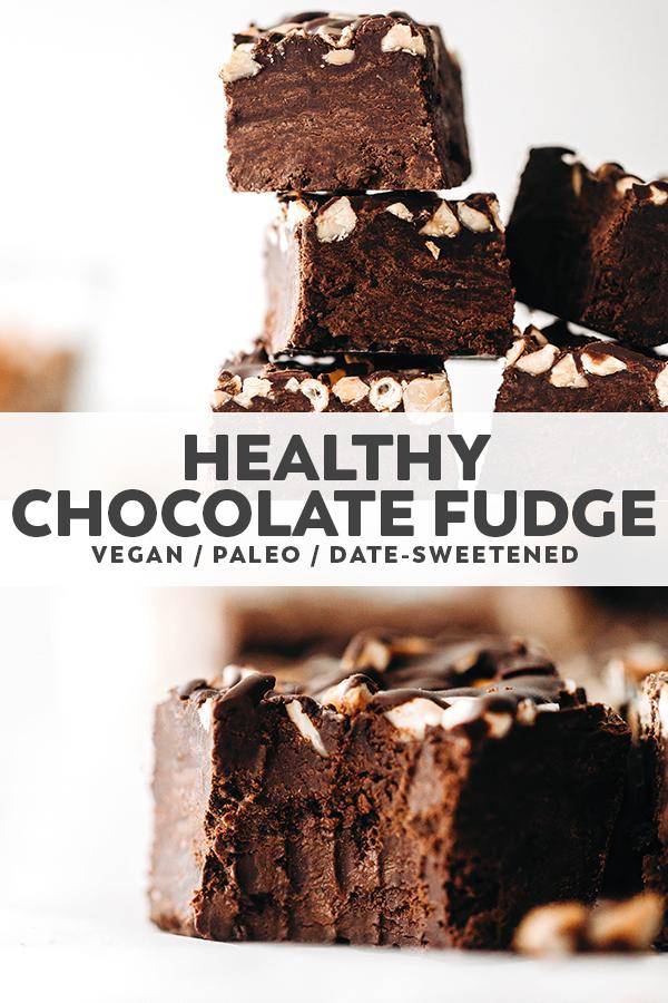 Healthy Chocolate Fudge (vegan + paleo)