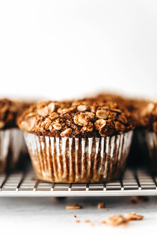 Pumpkin Streusel Muffins (vegan + gluten-free)