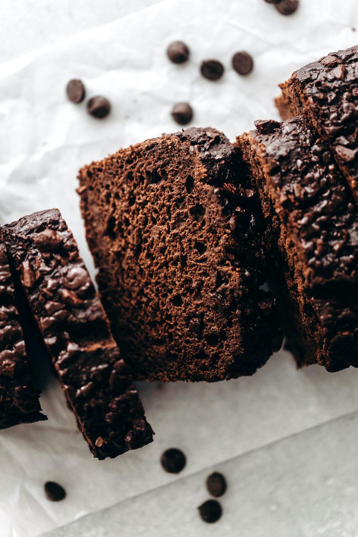 Vegan Chocolate Banana Bread (gluten-free)