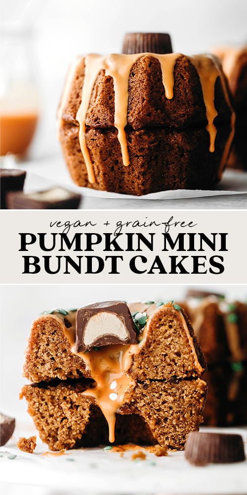 Mini Pumpkin Bundt Cakes (vegan + grain-free)