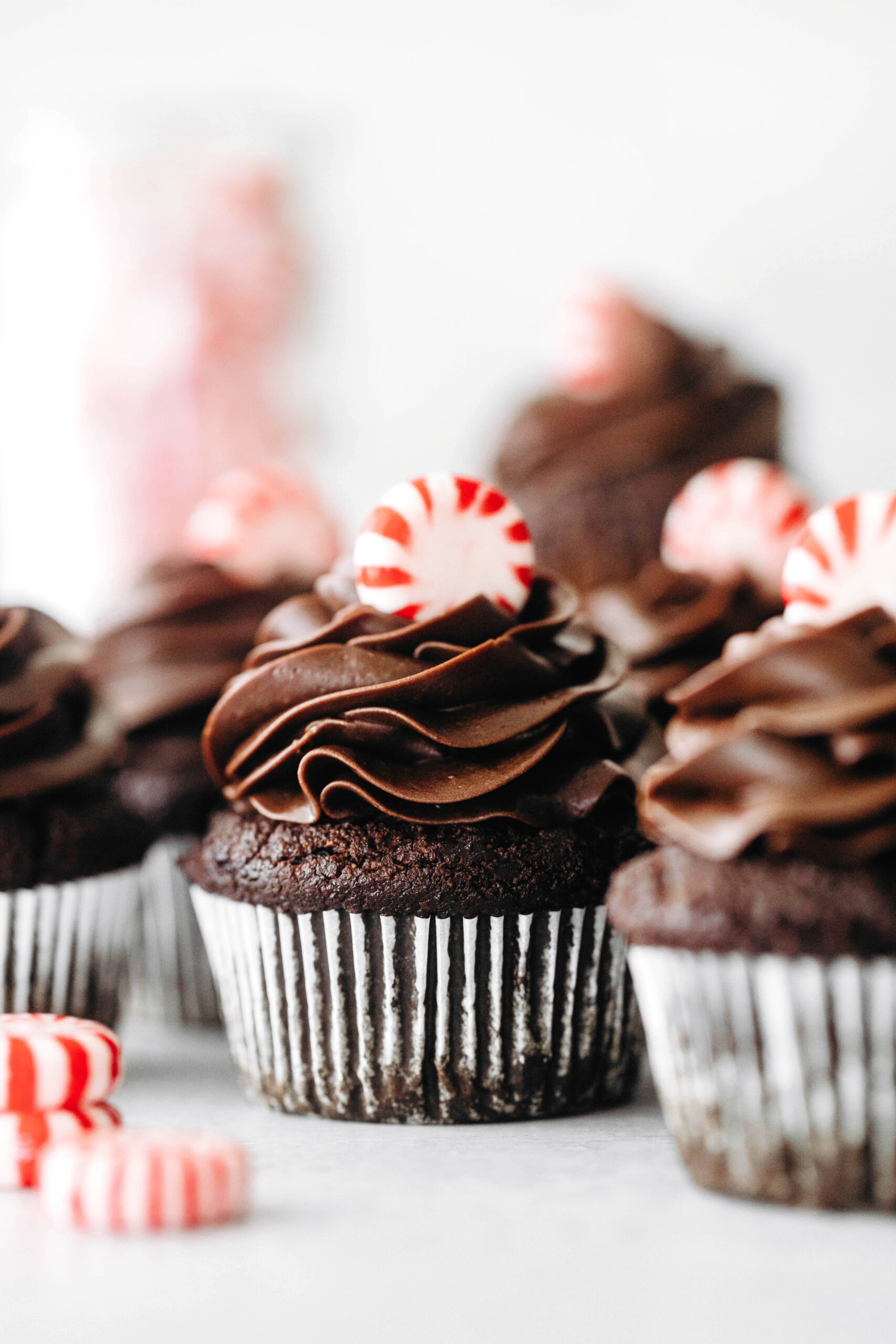 Peppermint Mocha Cupcakes (vegan + grain-free)