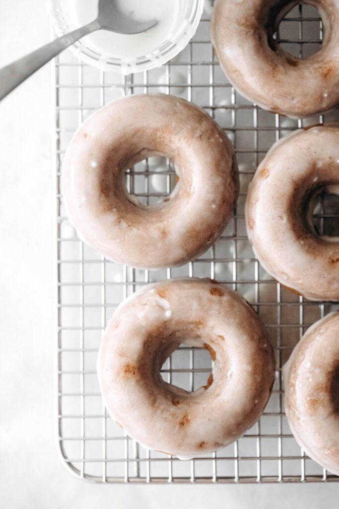 Baked Maple Pecan Donuts (vegan + gluten-free)