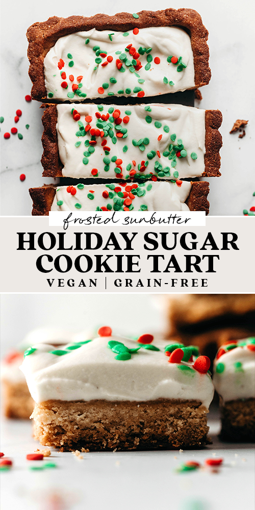 Sugar Cookie Tart (vegan + grain-free)