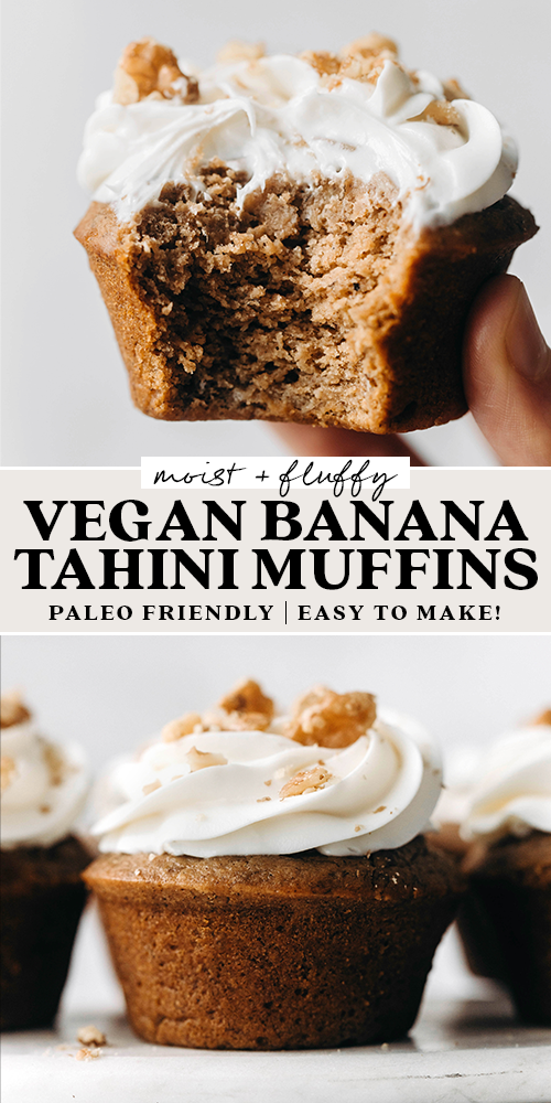 Vegan Paleo Banana Tahini Muffins