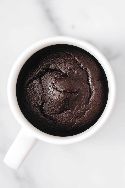 Easy Vegan Chocolate Mug Cake (gluten-free)