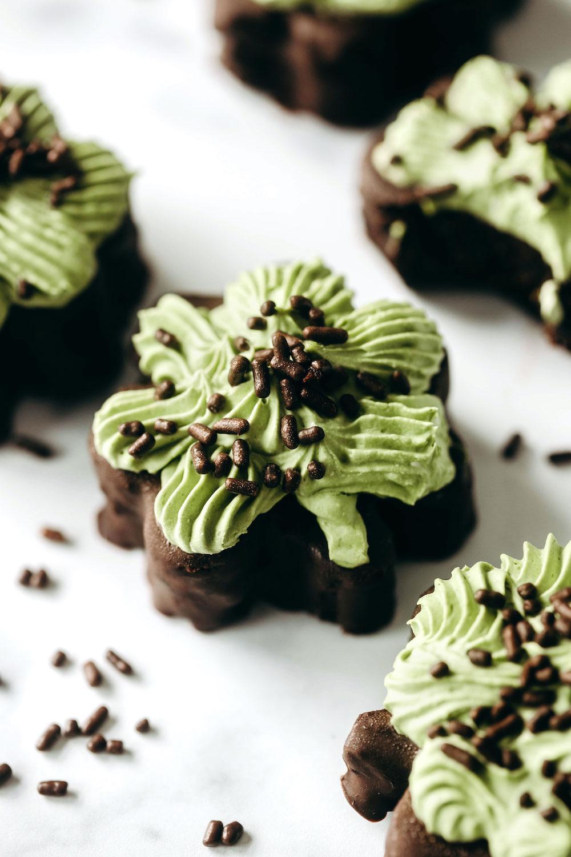 Shamrock Brownies (vegan + paleo)