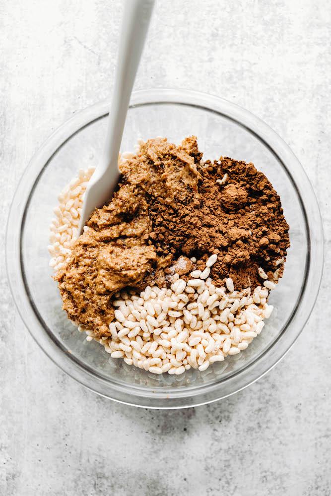 Healthy Chocolate Rice Crispy Treats