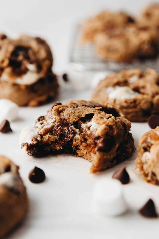 Gooey Vegan S'mores Cookies