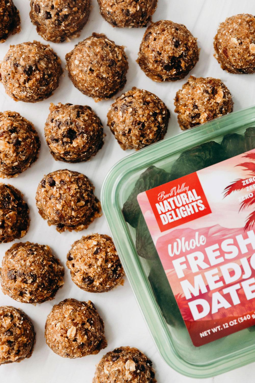Almond Pulp Cookie Dough Bites (vegan + paleo friendly)
