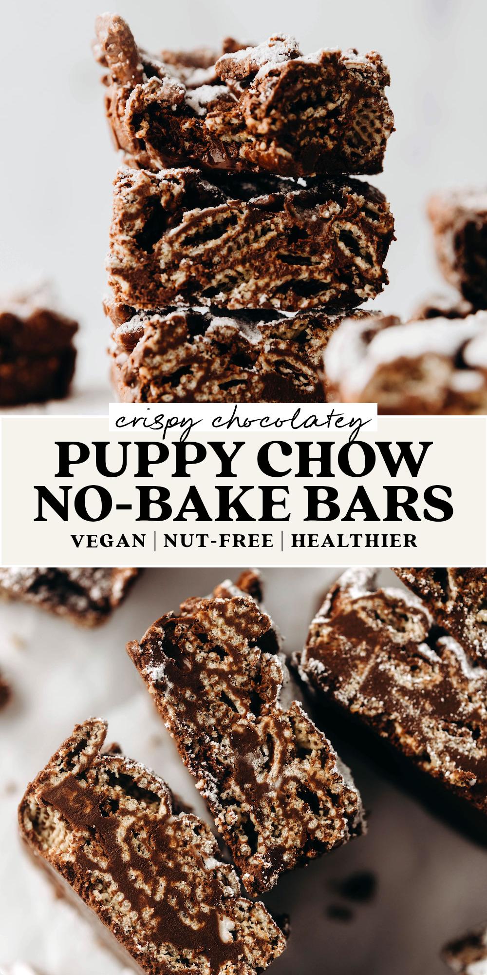Puppy Chow Bars (vegan + nut-free)